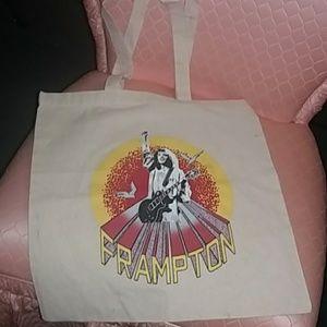 Vintage Peter Frampton cotton tote bag.